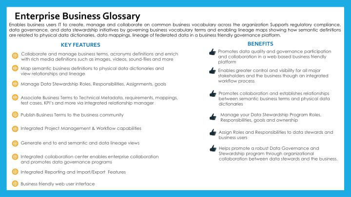 Enterprise Business Glossary
