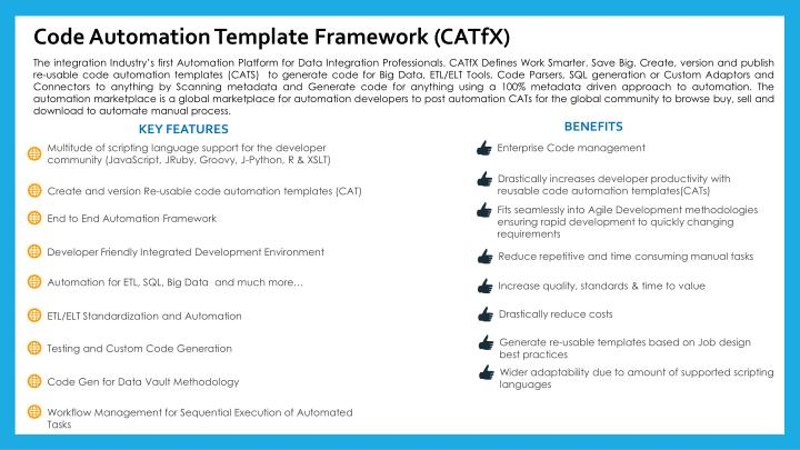 Code Automation Template Framework (CATfX)