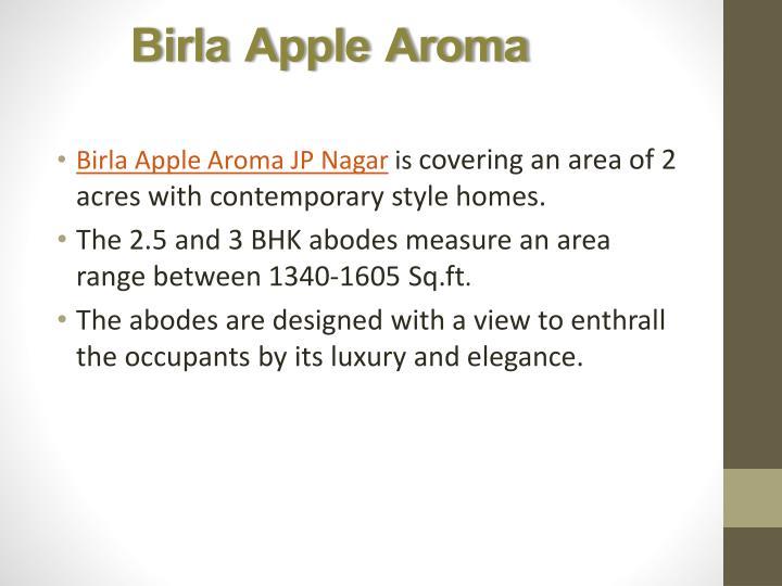 Birla apple aroma