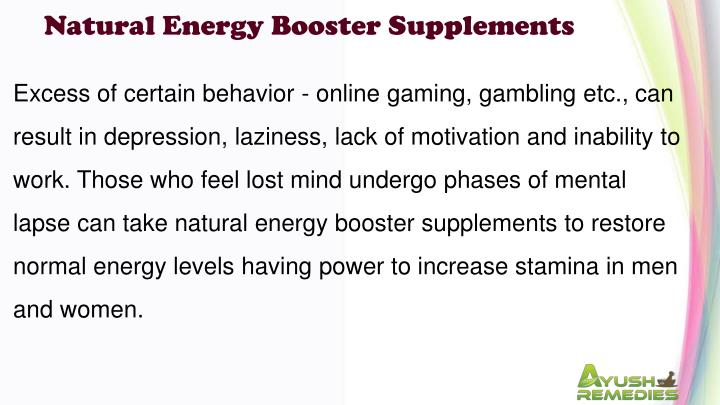 Natural Energy Booster Supplements