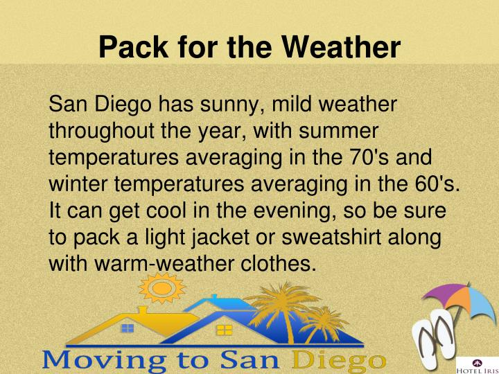Pack for the Weather