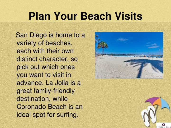 Plan Your Beach Visits