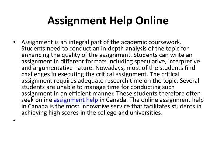 Assignmenthelp.us is the best place for Online Assignment help