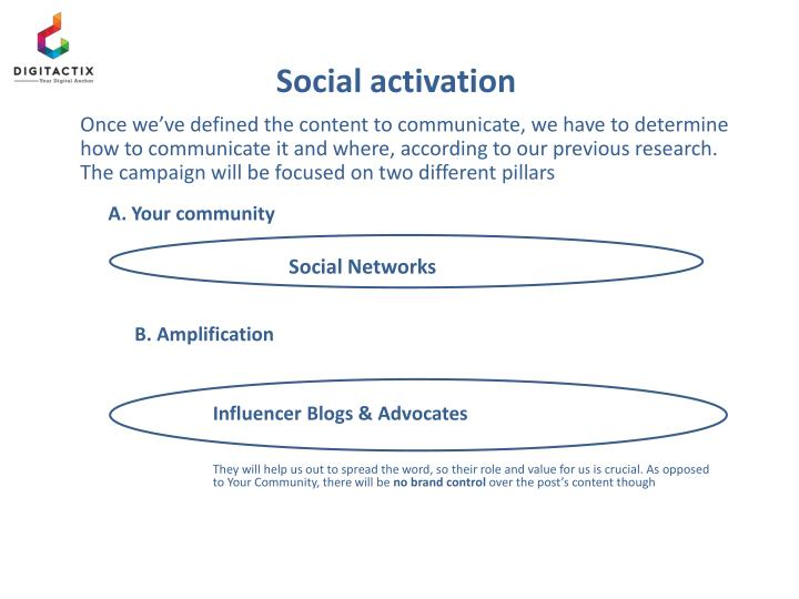 Social activation