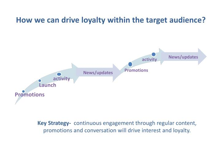 How we can drive loyalty within the target audience?