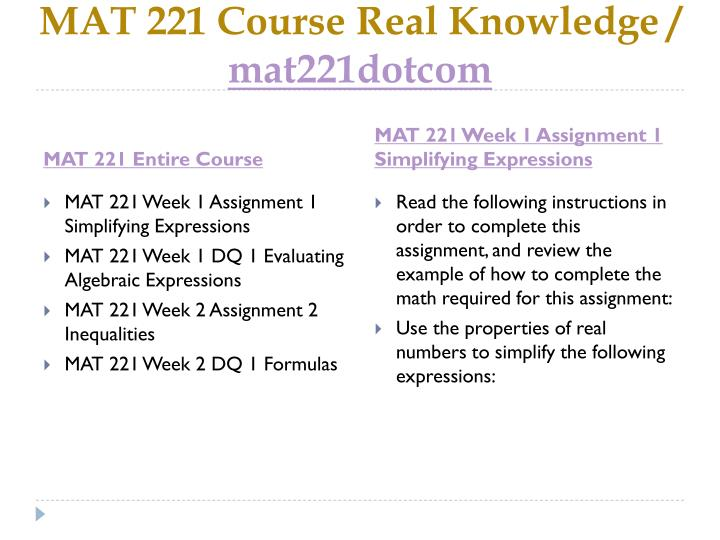 Mat 221 course real knowledge mat221dotcom1