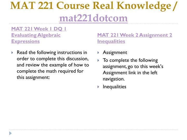 Mat 221 course real knowledge mat221dotcom2