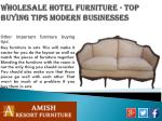 wholesale hotel furniture top buying tips modern businesses4