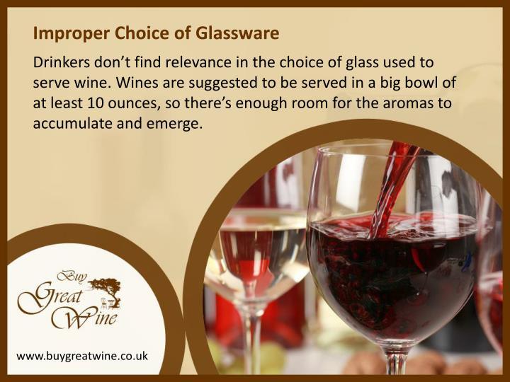 Improper Choice of Glassware