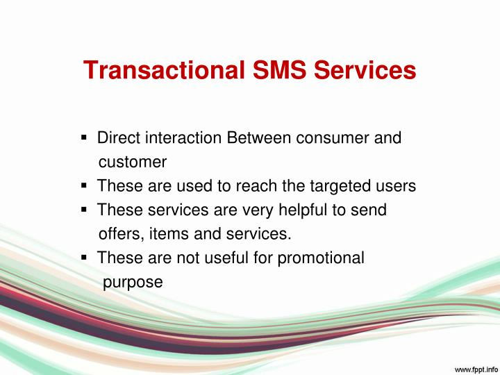 Transactional SMS Services