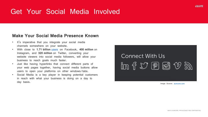 Get Your Social Media Involved