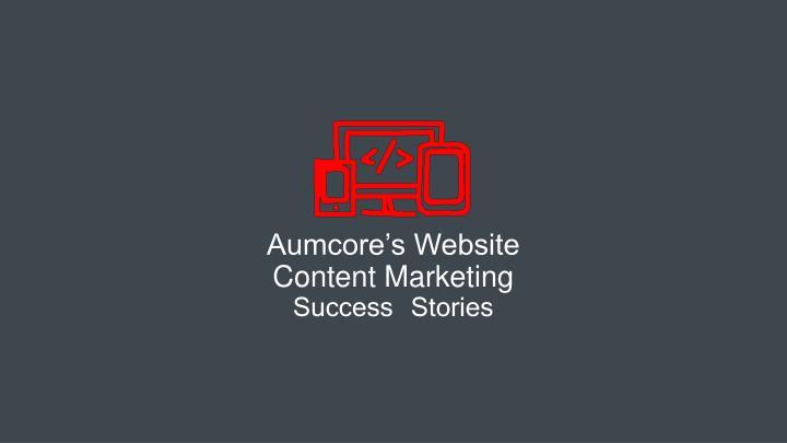 Aumcore's Website