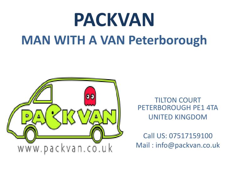 Packvan man with a van peterborough