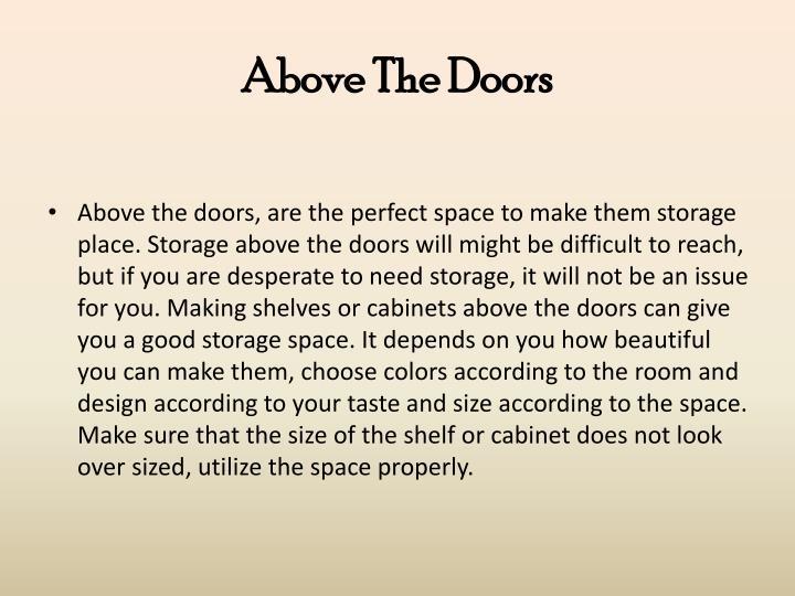 Above the doors