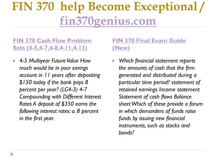 Fin 370 help become exceptional fin370genius com1