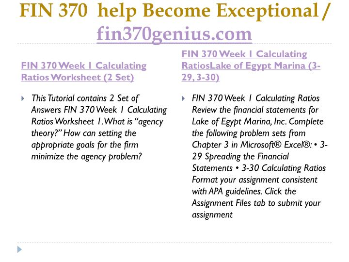 Fin 370 help become exceptional fin370genius com2