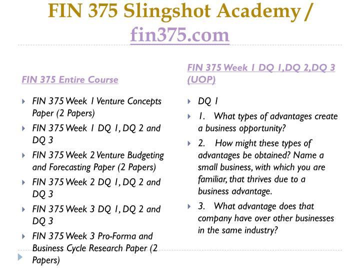 Fin 375 slingshot academy fin375 com1