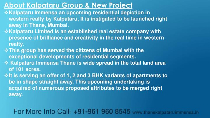 About Kalpataru Group & New Project