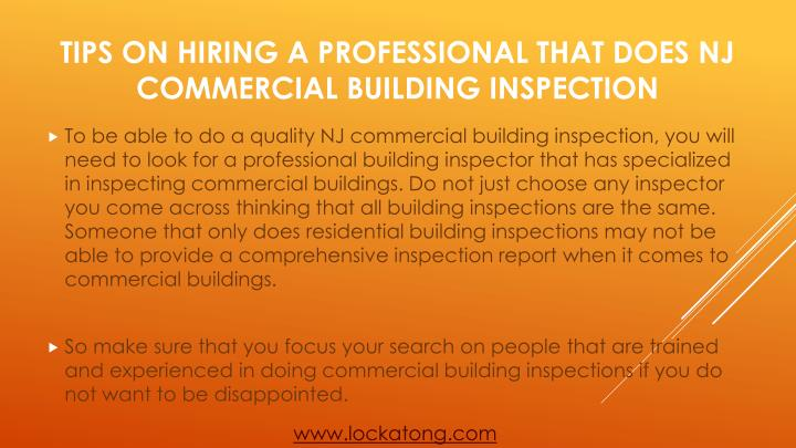 Tips on hiring a professional that does nj commercial building inspection2