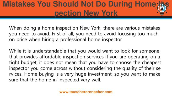 Mistakes you should not do during home inspection new york1