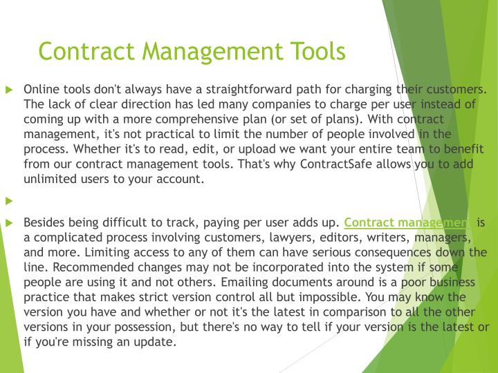 Contract Management Tools