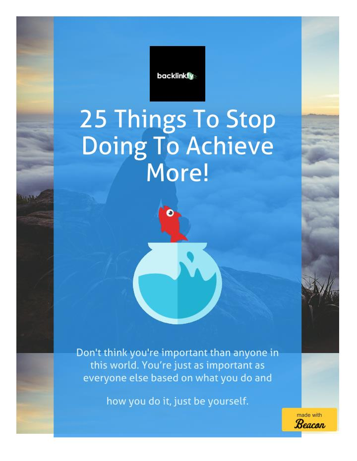 25 Things To Stop