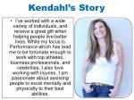 kendahl s story