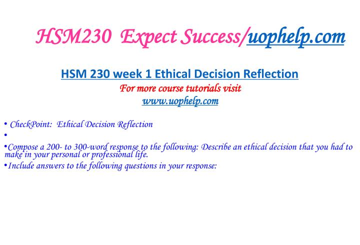hsm 230 checkpoint legal considerations Snaptutorial is a online tutorial store we provideshsm 230 week 2 checkpoint code of ethics analysis week 1 checkpoint legal considerations hsm 230 week 1.