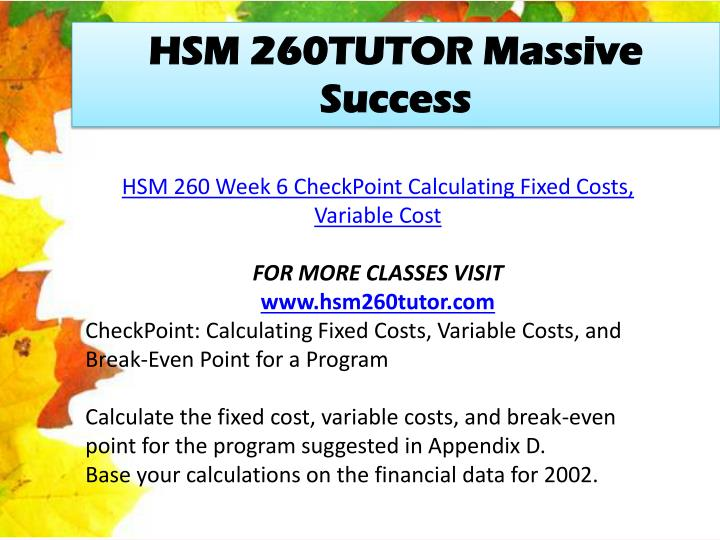 hsm 260 fee setting Hsm 260 week 1 checkpoint hsm 260 uop course tutorial /hsm260dotcom determine the most important issues for a human service agency to address in fee setting.