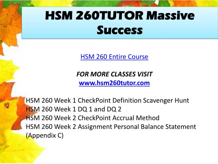 hsm 260 week 2 Hsm 260 week 2 assignment personal balance statement (appendix c) by manu46 - issuu report document as copy-rights infringement.