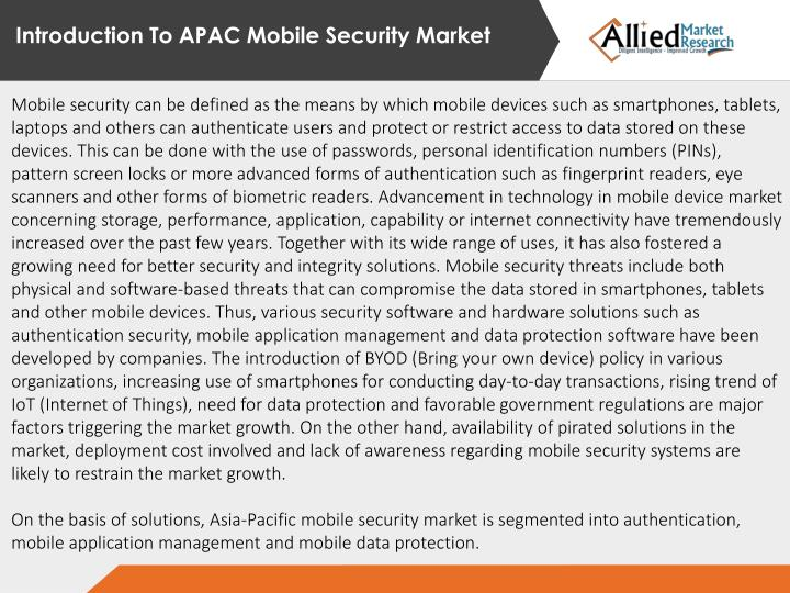 Introduction To APAC Mobile Security Market