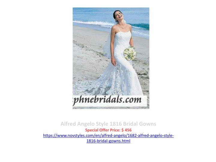 Alfred Angelo Style 1816 Bridal Gowns