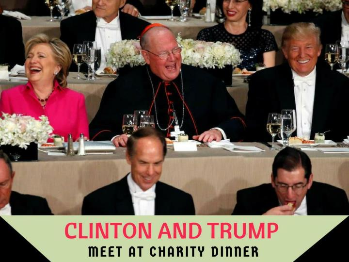 clinton and trump meet at philanthropy dinner n.