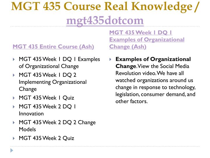 mgt 435 entire course Tutorialrank is a online tutorial store we provides ashford mgt 435 entire course.