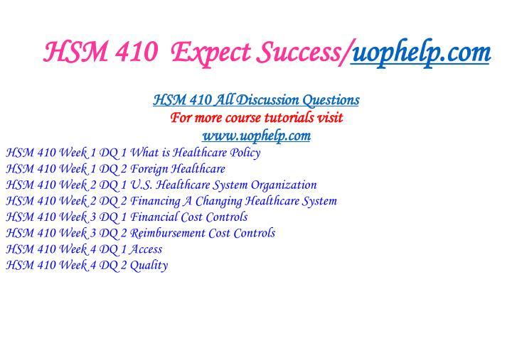 Hsm 410 expect success uophelp com1
