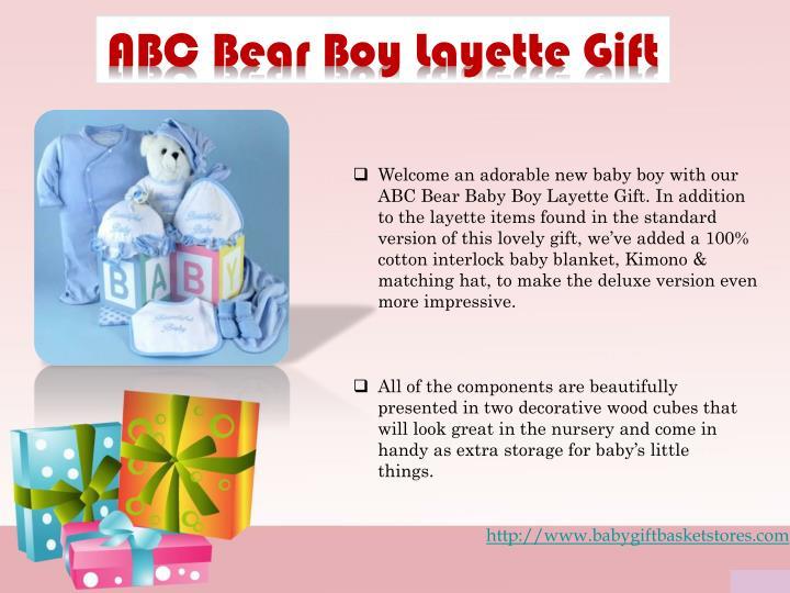 ABC Bear Boy Layette Gift