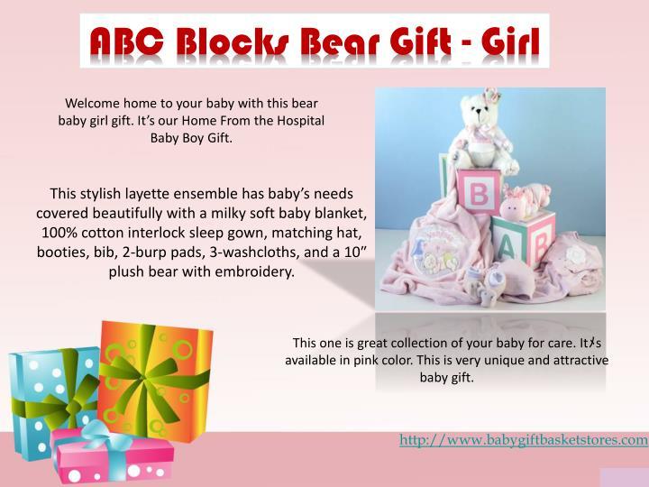 ABC Blocks Bear Gift - Girl