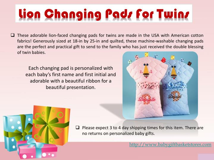 Lion Changing Pads For Twins