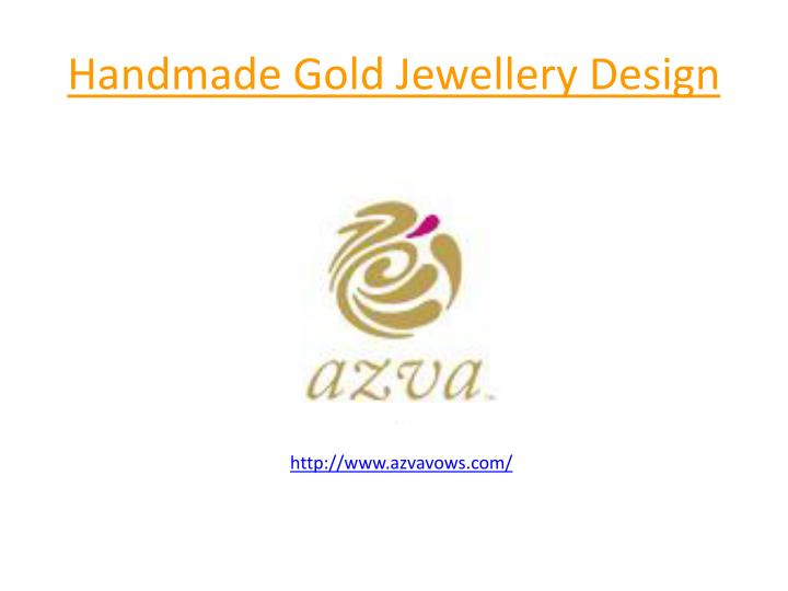 handmade gold jewellery design n.
