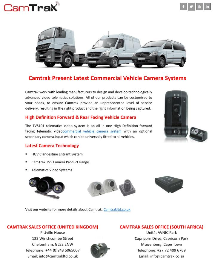 Commercial Vehicle Definition >> Ppt Camtrak Present Latest Commercial Vehicle Camera