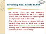 investing real estate in usa