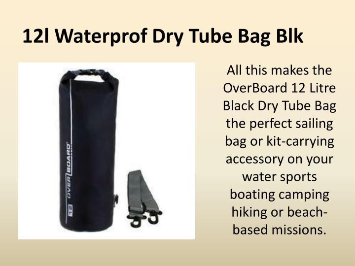 12l waterprof dry tube bag blk