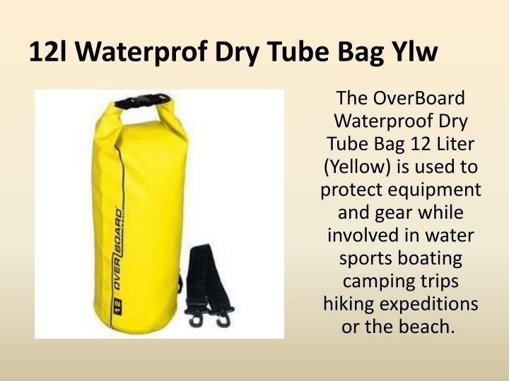 12l waterprof dry tube bag ylw