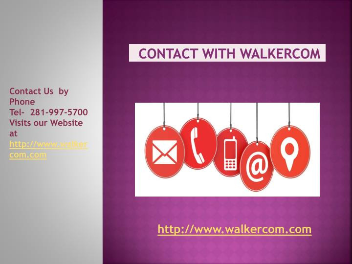 Contact with walkercom