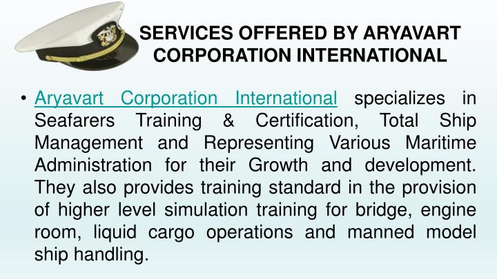 Services offered by aryavart corporation international