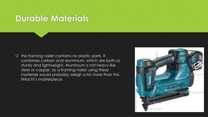 Durable Materials
