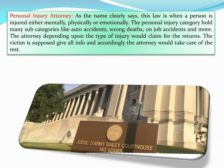 Personal Injury Attorney: