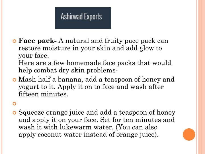 Face pack-