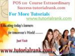pos 110 course extraordinary success tutorialrank com