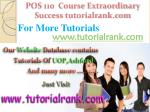 pos 110 course extraordinary success tutorialrank com2